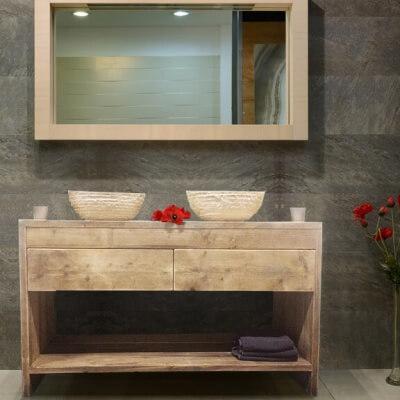Steigerhouten badkamer meubel Fallon