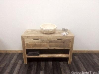 Steigerhouten badkamermeubel Judson