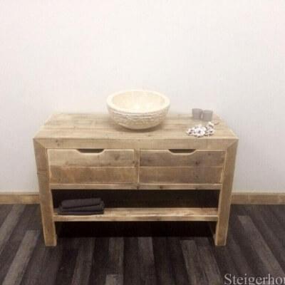 Steigerhout badkamer behandelen