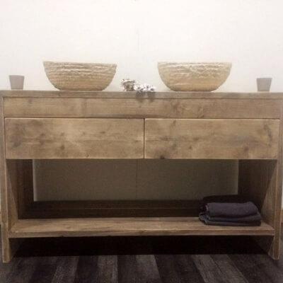 Steigerhouten badkamer meubel fallon steigerhouttrend - Model badkamer design ...