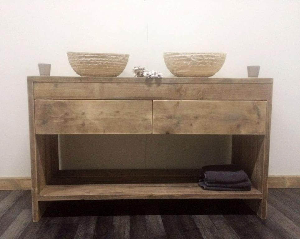 Steigerhouten badkamer meubel fallon steigerhouttrend - Meubels originele badkamer ...