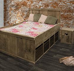 Steigerhouten meubelen voor de slaapkamer