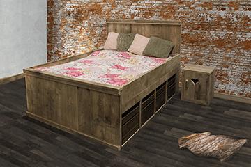 Steigerhouten meubelen voor de slaapkamer steigerhouttrend - Nachtkastje voor loftbed ...