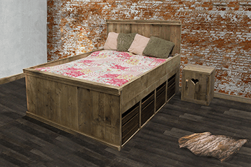 Steigerhouten meubelen voor de slaapkamer steigerhouttrend - Modern kinderbed ...