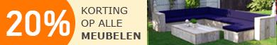 Korting op alle tuinmeubelen. Loungebank Melvern