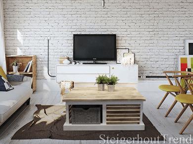 Steigerhouten meubelen in landelijke stijl steigerhouttrend for Meubels landelijke stijl