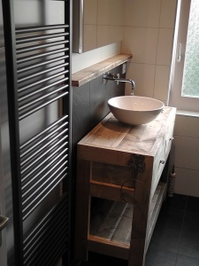 Steigerhouten badkamermeubel Spur