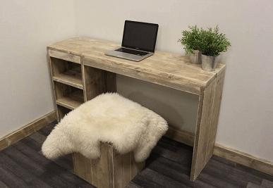 Steigerhouten bureaus steigerhouttrend for Bureau van steigerhout maken