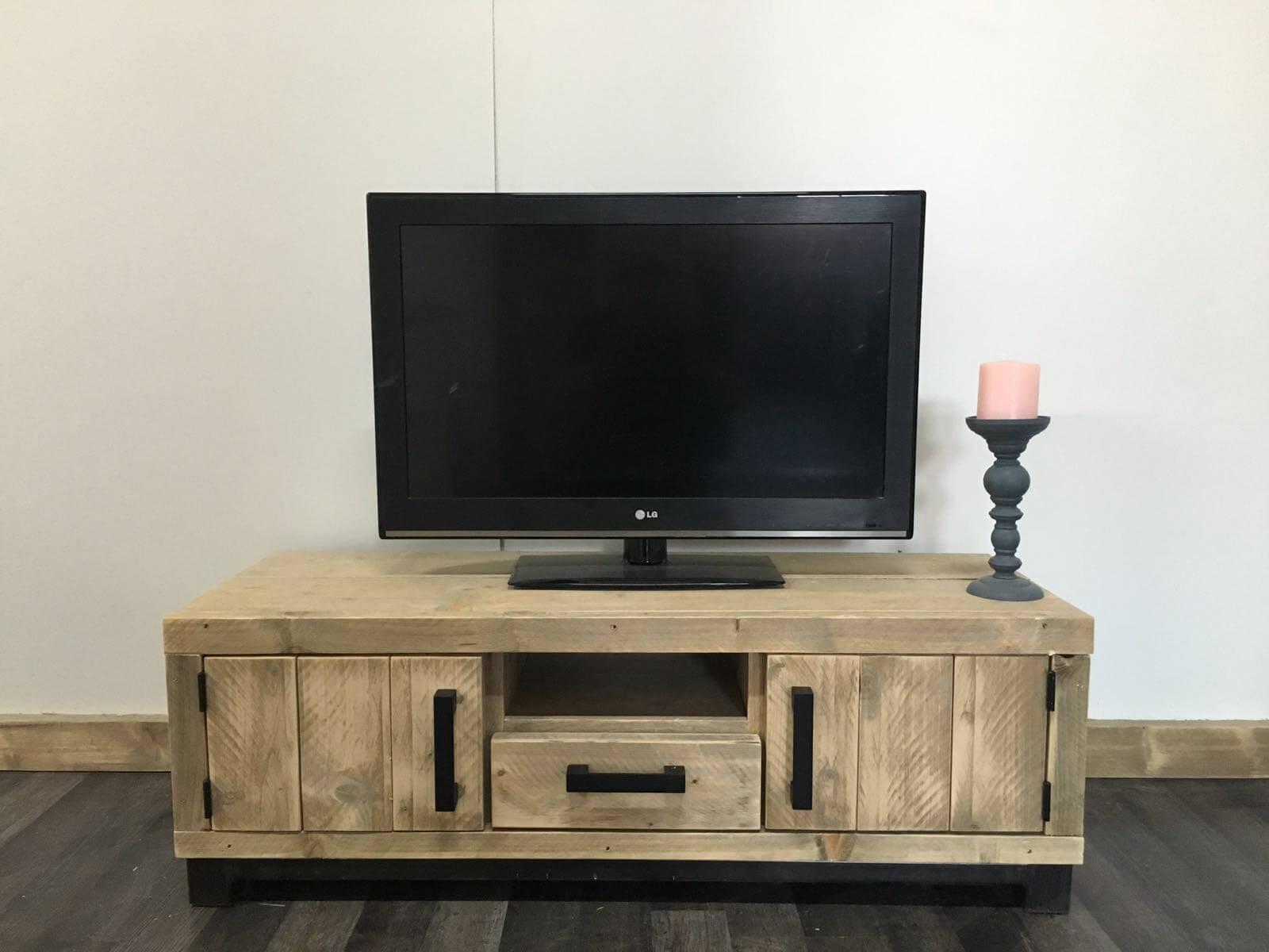 Steigerhouten TV meubel Hollis – SteigerhoutTrend