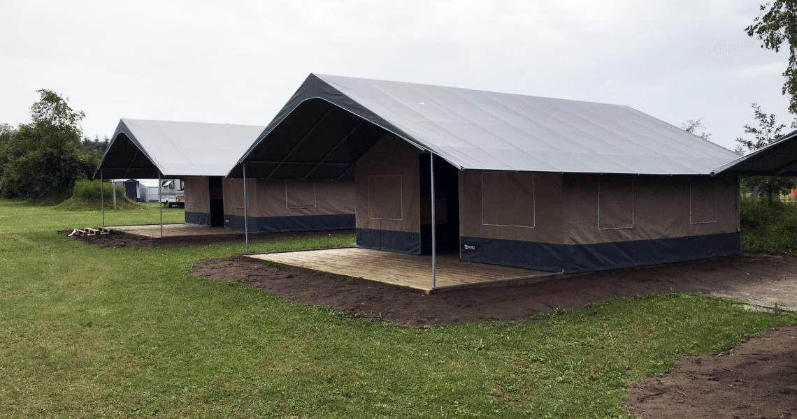 Inrichting in Steigerhout Camping Molencaten