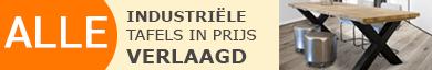 Industriële tafels van Steigerhout