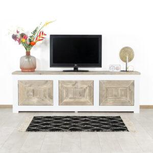 Steigerhouten TV meubel Almere in landelijke stijl