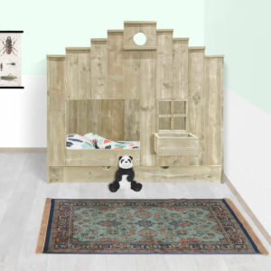 Steigerhouten bed Hunter