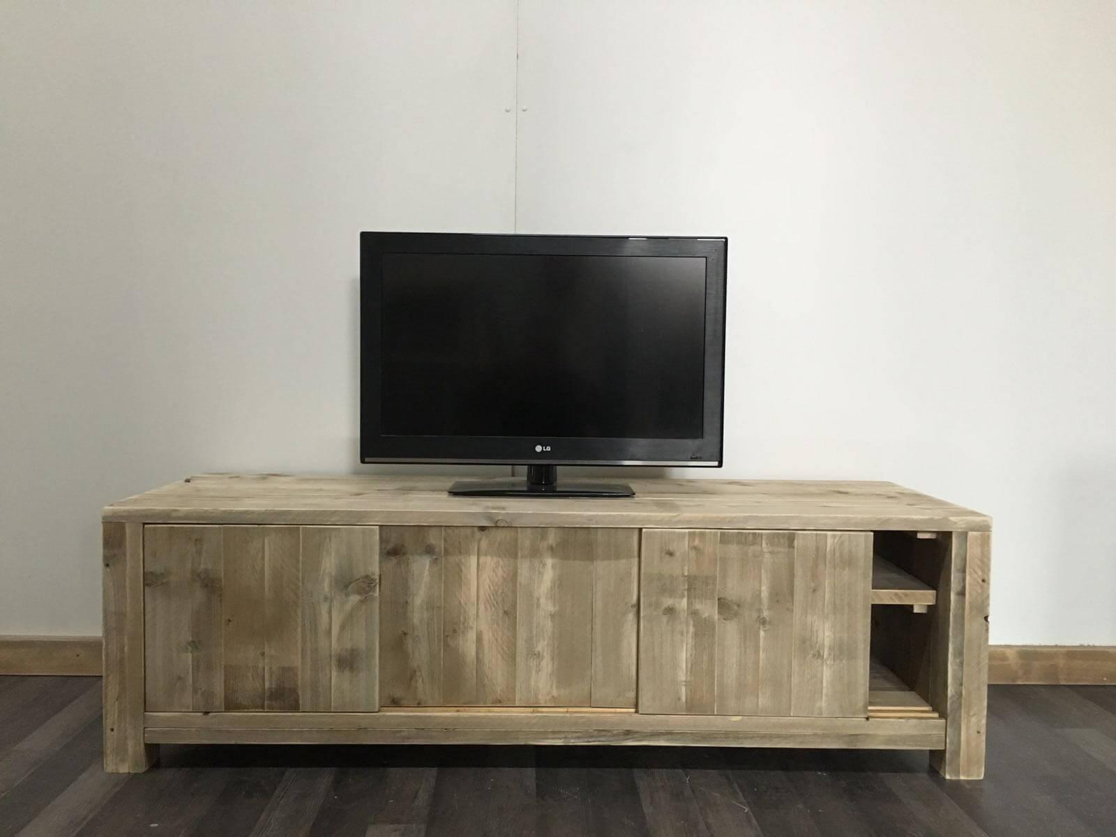 Steigerhouten TV meubel Lutsen