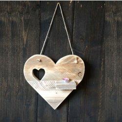 Steigerhouten wandbord hartje Love