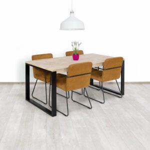 Steigerhouten tafel Clover