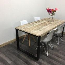Steigerhouten Industriele tafel Vinita