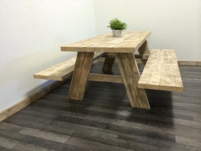 Picknick steigerhouten tafel Stokane
