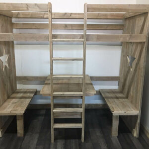 Steigerhouten bed Derry