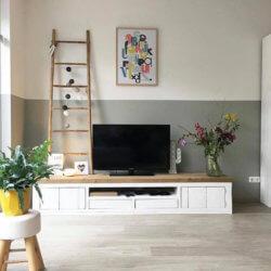 Steigerhouten TV-meubel Hulen