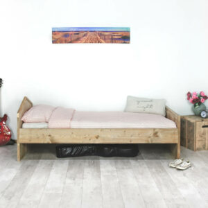 Steigerhouten bed Coolin