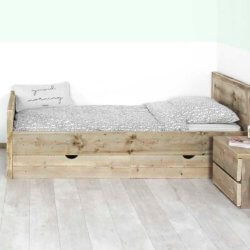 Steigerhouten bed Destin