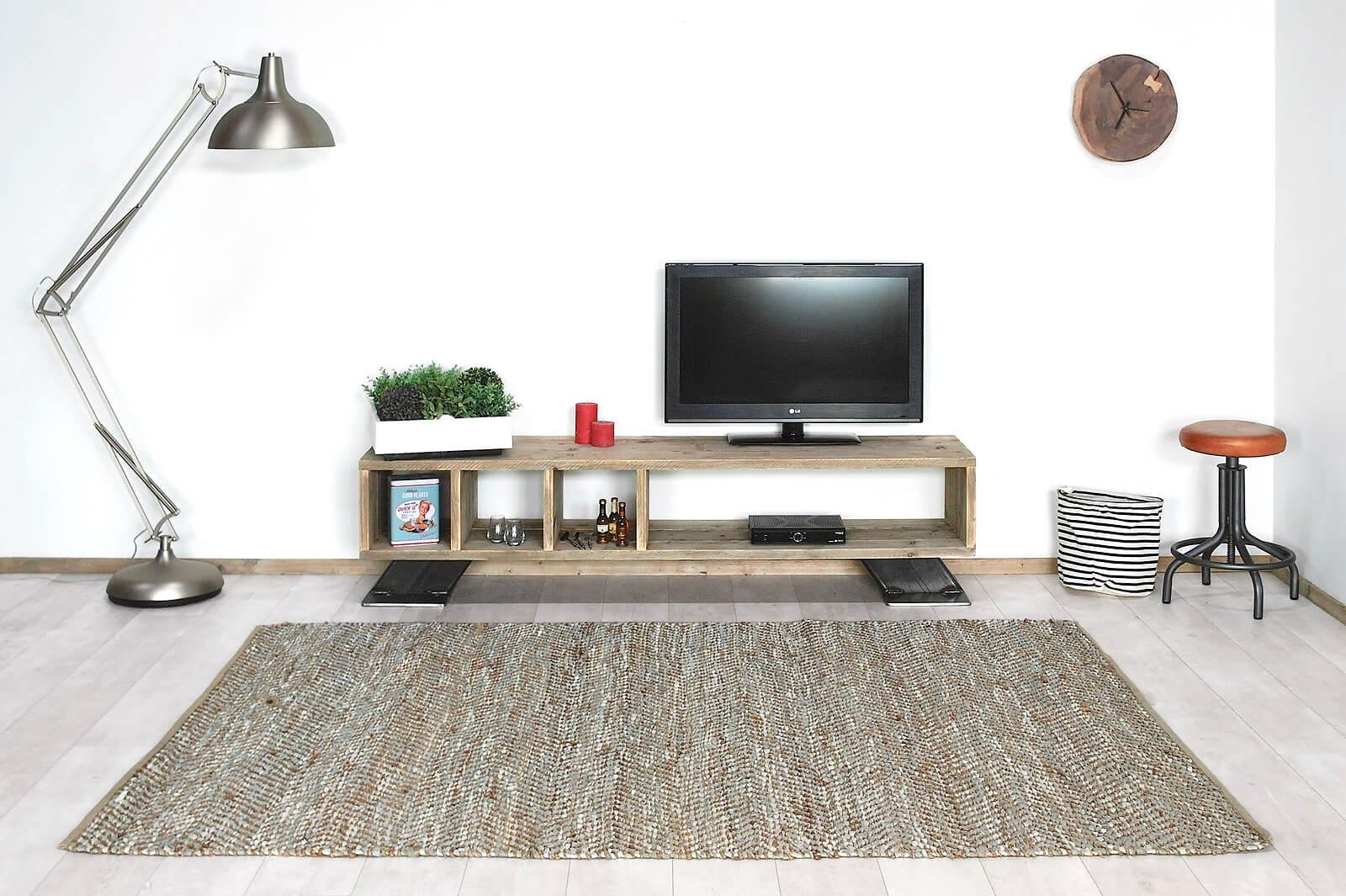 Steigerhouten industriele TV meubel Hilo
