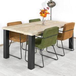 Steigerhouten tafel Roca