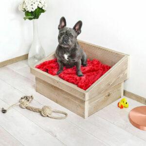 Steigerhouten hondenmand Sammy
