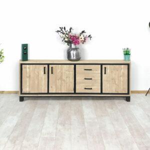 Steigerhouten industrieel TV meubel Lowes