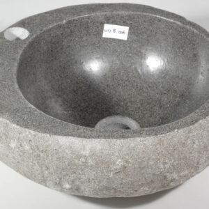 Natuurstenen waskom met fonteinkraan gat ⌀ 3,5 cm
