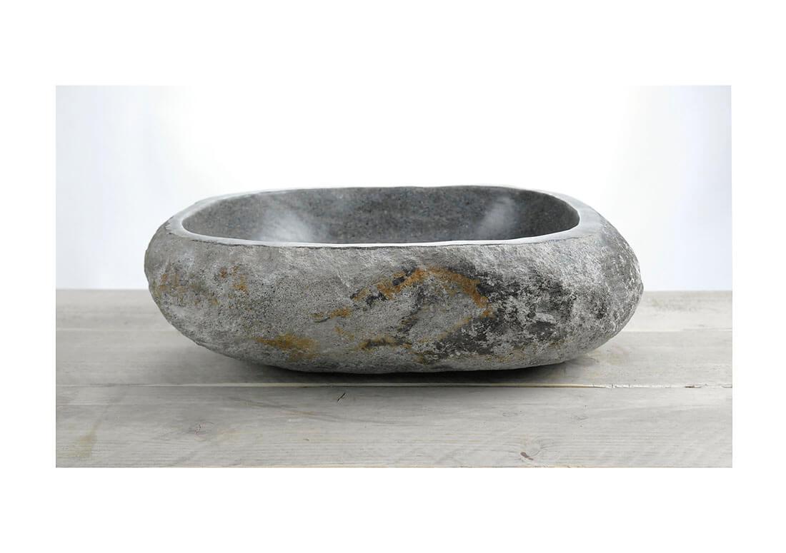 Natuurstenen waskom | W18-035 | 41 x 33 x 13