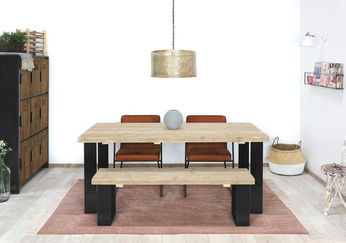 Steigerhouten tafel Alsen