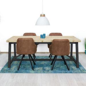 Steigerhouten tafel Macy