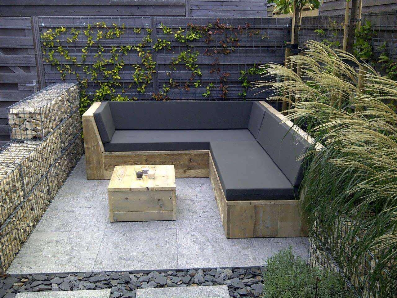 Hoe Maak Ik Een Steigerhouten Loungebank.Steigerhouten Loungebank Arona Met Strak Design Kopen Bestel Online