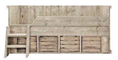 Steigerhouten bed Bovey