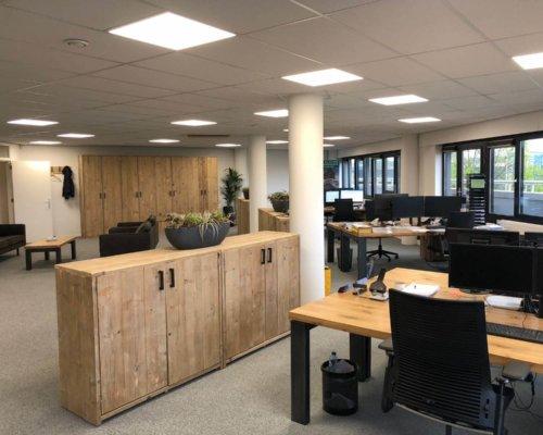 Steigerhouten kantoor kasten