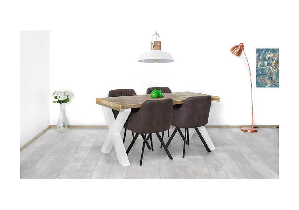 Steigerhouten tafel Challis