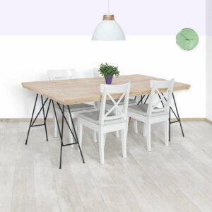 Steigerhouten tafel Zenia