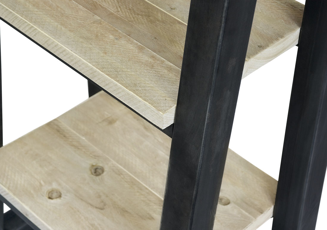 Steigerhouten Kastdecoratie Ladder Cora Met Stalen Frame