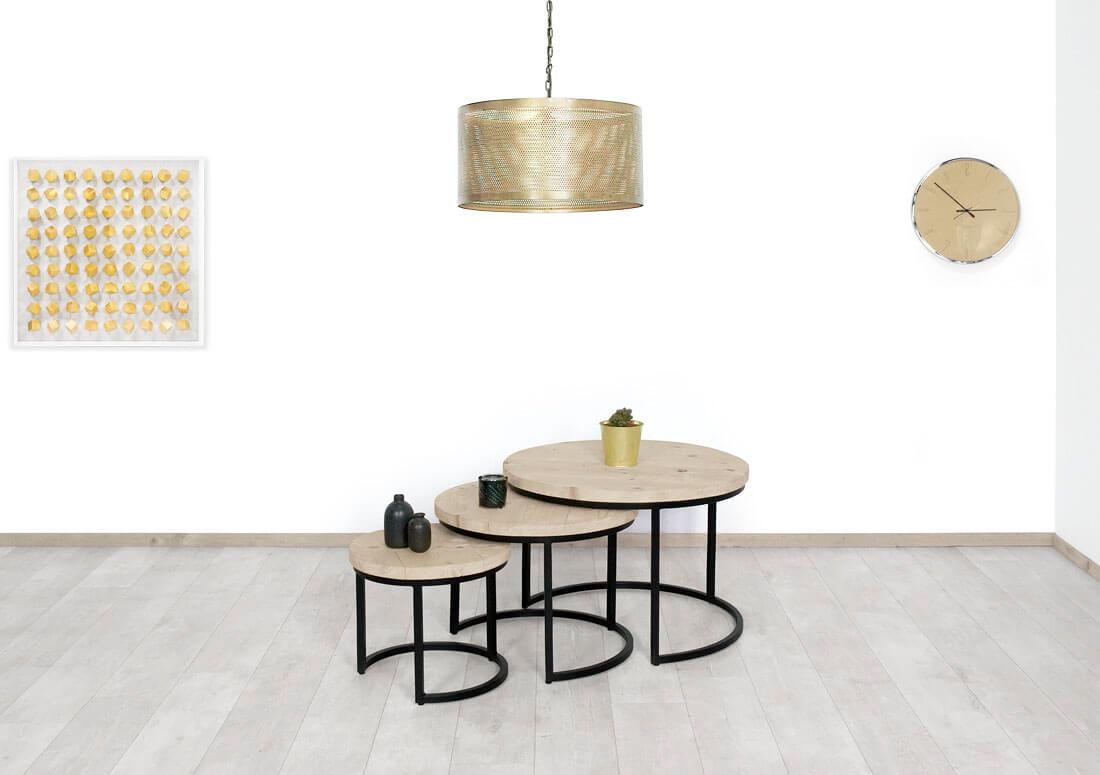 Steigerhouten salontafel Vina