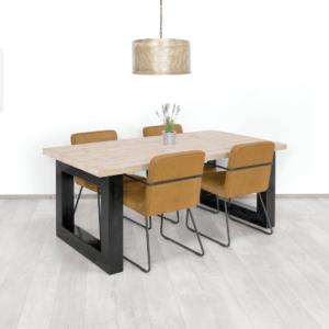 Steigerhouten tafel Gepp