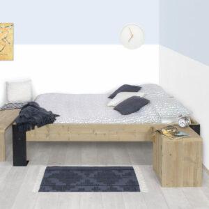 Steigerhouten bed Canby