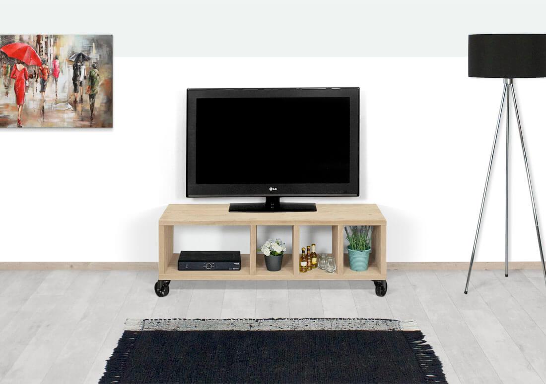 Tv Meubel Wieltjes : Industrieel tv meubel flightcase op wielen homestore