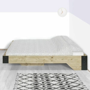 Steigerhouten bed Bruni
