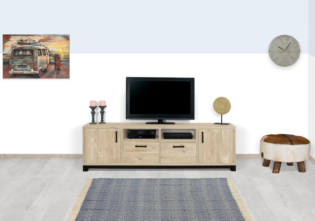 Steigerhouten TV meubel Amlin