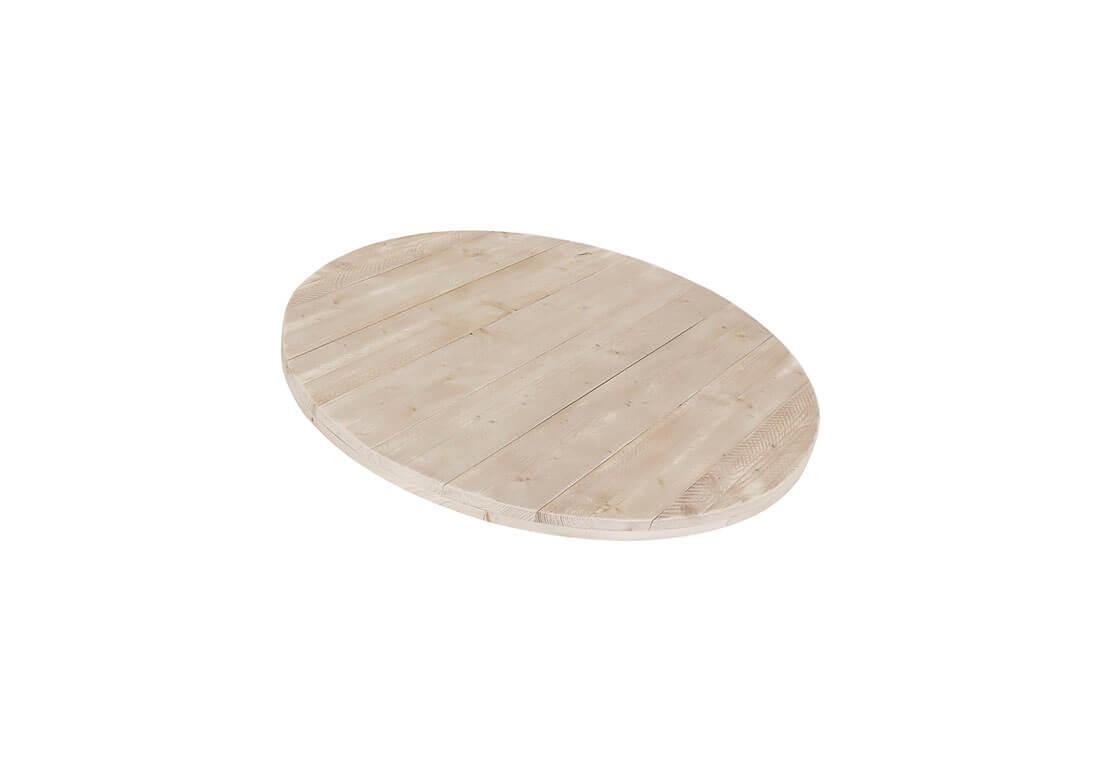 Steigerhouten rond tafelblad 6 cm