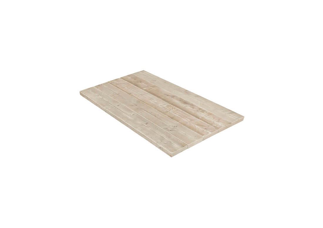 Steigerhouten tafelblad met 5 cm dik blad