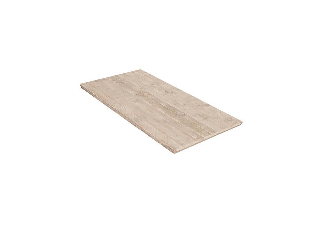 Steigerhouten tafelblad dubbel