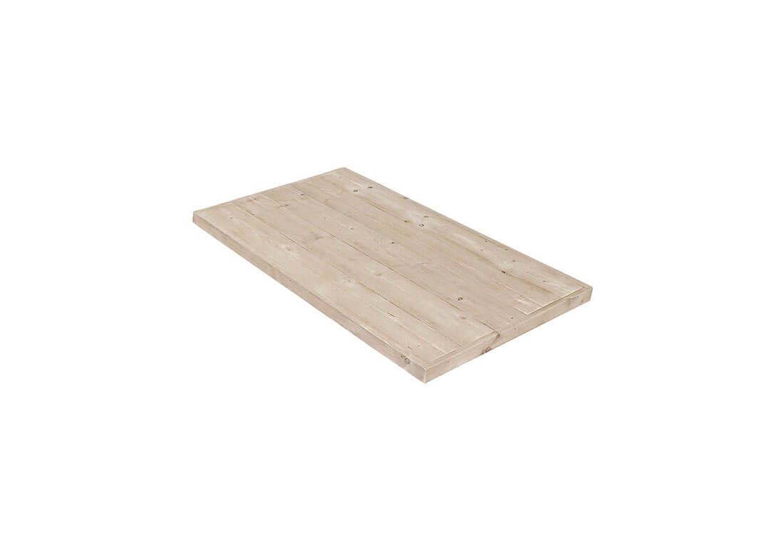 Steigerhouten tafelblad met verstekrand